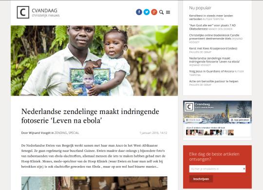 Indringende fotoserie: Leven na Ebola